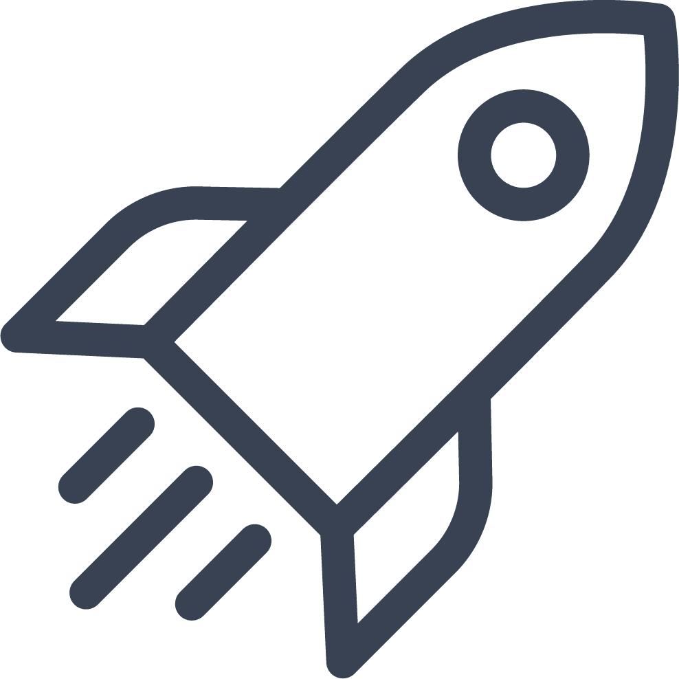EIne Rakete symbolisiert die Vision von Connfair.