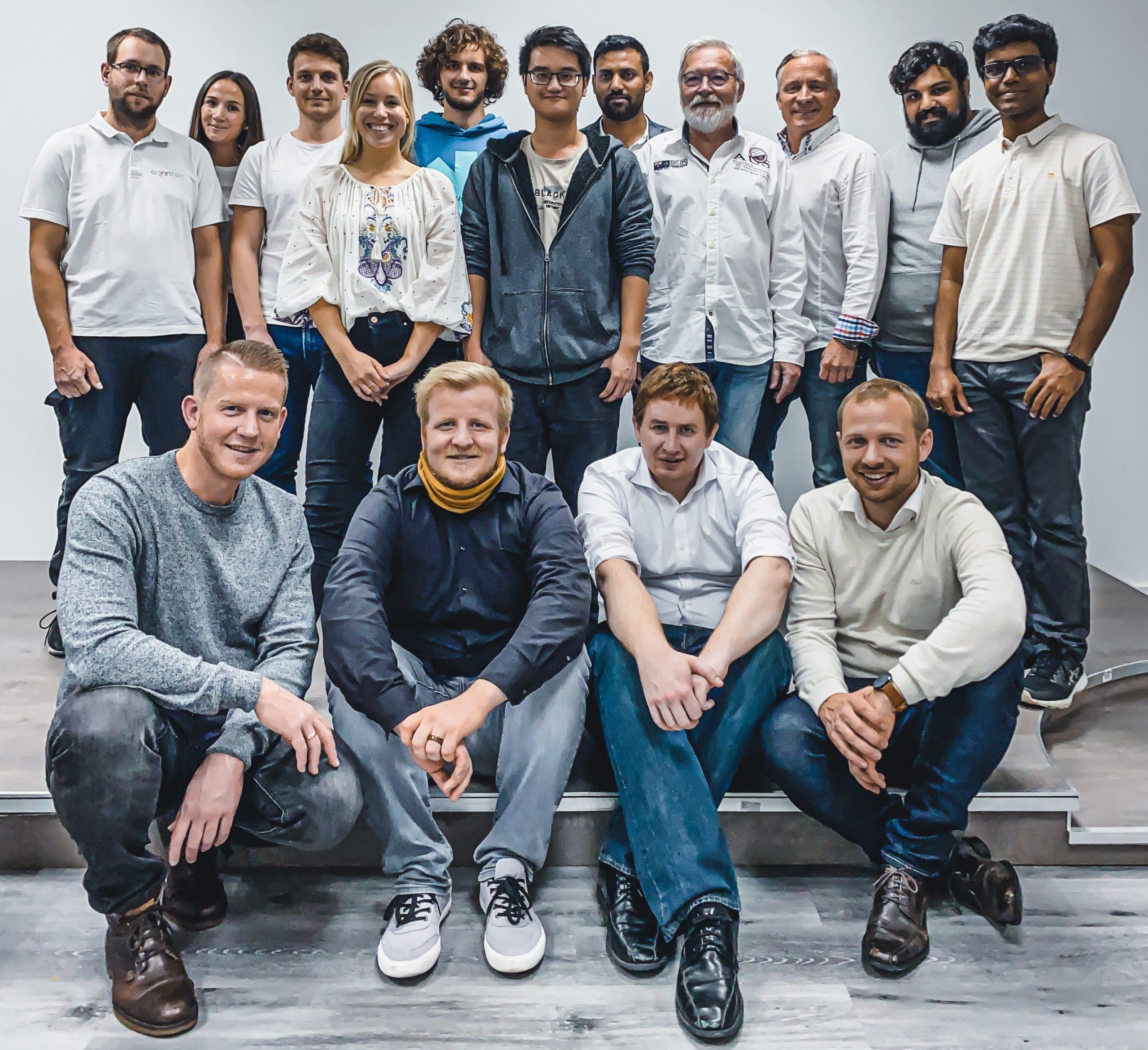 Zu sehen ist das Team des Start-Ups Connfair.